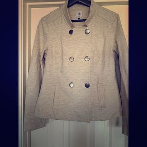 Cute Cabi Military Jacket in Heather Gray